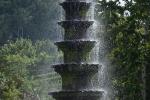 Mooie fontein in de Tirtagangga Water Garden