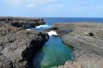 Noordkant van het eiland, bij de blue eye