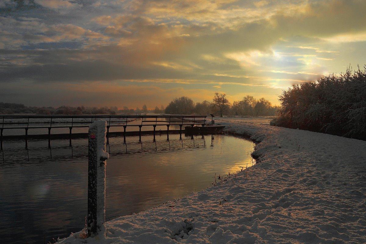 Zonsopkomst Bethunepolder winter