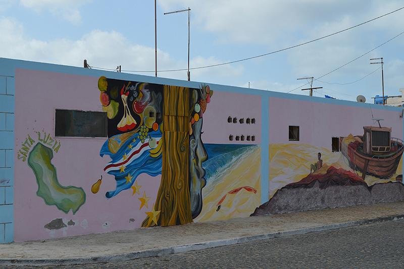 Mooie muurschilderingen in de dorpjes