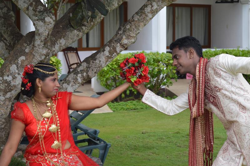 Traditionele trouwkleding van Sri Lanka